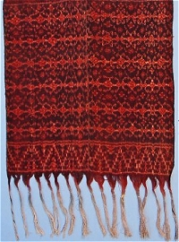 Ikat man's wrap from Ende, British Museum