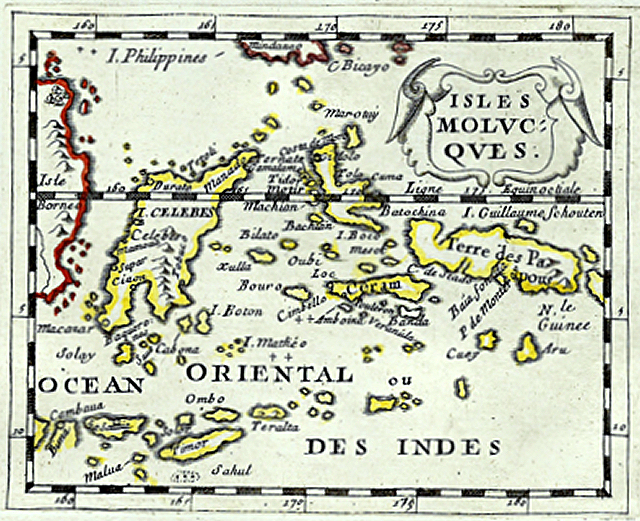 Antique map of Ceram