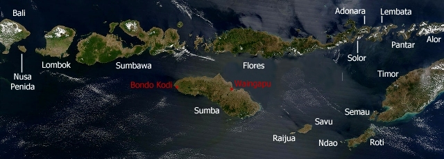 Map of Lesser Sunda Islands