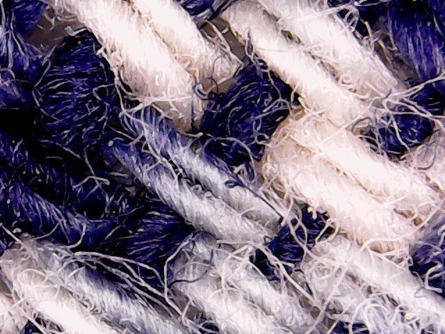 Timor, West Timor, Cotton, hand-spun, medium - plus pinstripes in commercial thread.